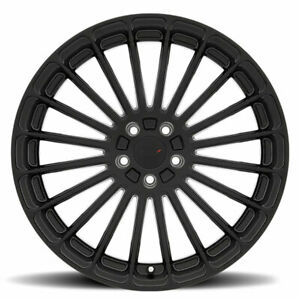 22 In Rolls Royce Ghost Wraith Wheels Rims Turbina Forged Matte Black 5x120 Lugs