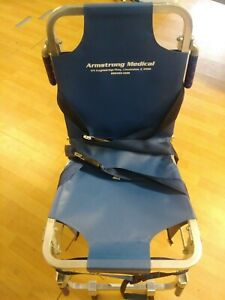Armstrong Medical Collapsible Rolling Chair W Securement Capability Emergency Er