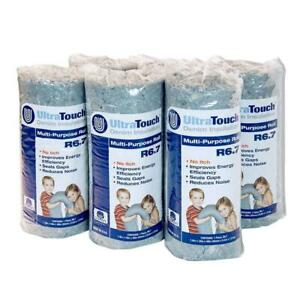 Denim Insulation Roll 16x48 In Recycled Cotton Fibers 6 pack Home Project Usage