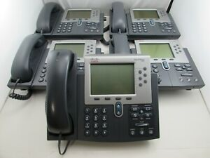 Lot Of 5 Cisco Ip Phone Cp 7962g Unified Voip Business Phone Handset Stand