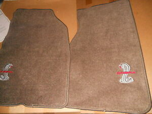 Nos New Ford 1994 2004 Ford Mustang Svt Cobra Factory Floor Mats Set Parchment