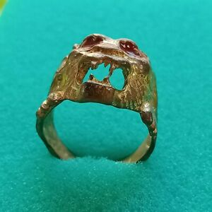 Wonderful Ancient Medieval Bronze Ring Artifact Museum Quality Very Stunning