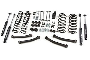 Zone Offroad 4 Suspension Lift Kit For Jeep Tj Wrangler 97 06 Non Unlimited