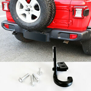 Left Rear Tow Hook Trailer Hitch For 2018 2019 2020 Jeep Wrangler Jl Jlu red