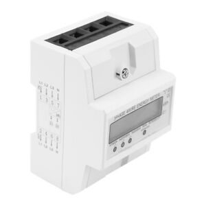 50hz Three Phase Four Wire Din Rail Energy Meter Voltage Current Power Kwh