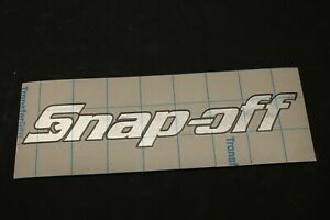 Chrome Snap Off Tool Box Name Plate Vinyl Decal Snap On Spoof Sticker Emblem