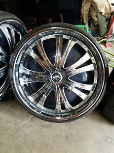 30 Inch 5x5 5 Dub Spinners With Tires Rims Wheels