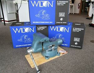 Wilton 8 Tradesman Round Channel Vise W Swivel Base Model 1780a Usa made