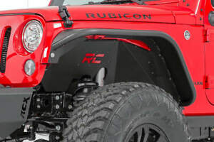 Rough Country Front Steel Inner Fenders Liners Fit 2007 2018 Jeep Wrangler Jk
