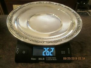 Vintage Gorham Sterling Silver 10 Dish Plate For Scrap Or Not 262 Grams