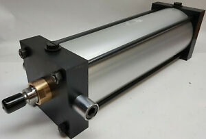 Parker 4ma Series Pneumatic Ram Cylinder Big 6 In Dia 16 In Stroke 250 Psi 2 Way