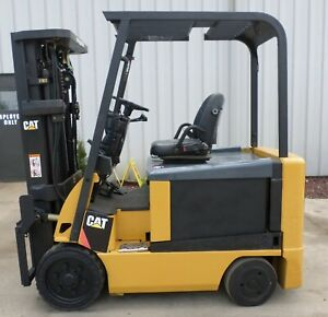 Caterpillar Model E6000 2006 6000 Lb Capacity Great 4 Wheel Electric Forklift