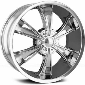 24x9 5 Chrome Veloche Vector Rim 5x115 5x127 18 Offset 925 24917c