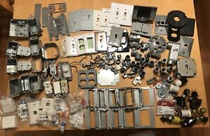 Huge Mixed Lot Of Electrical Supplies Fittings Boxes Conduit Fuses