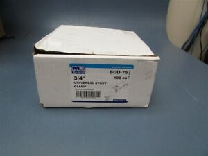 Box Of 100 Madison Electric 3 4 Universal Strut Clamps Scu 75