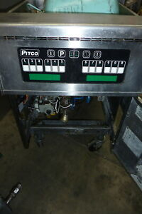Pitco Solid State Gas Fryer 75lbs s s Unit Burners casters 900 Items On E Bay