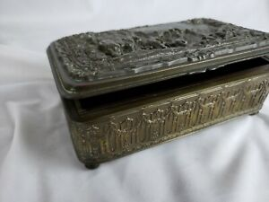 Jb Jennings Brothers Antique Silver Plated Box Ca 1900 6 Wide