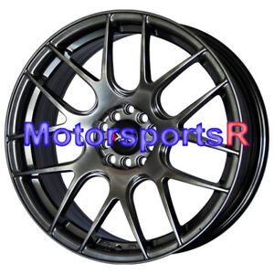 Xxr 530 Chromium Black 17 17x7 Concave Wheels Rims 5x100 5x114 3 Fits Kia Forte