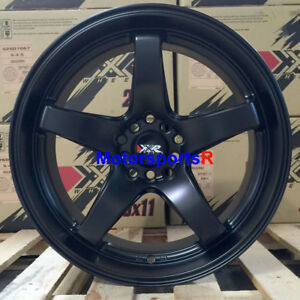 Xxr 555 Wheels 17x8 35 Flat Black Deep Lip Rims 5x114 3 Acura Rsx Type S Ilx