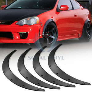 4pcs Jdm Universal Fender Flares Wide Body Kit Wheel Arches Durable Pu