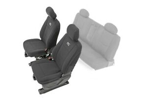 Rough Country Neoprene Seat Covers For 14 18 Chevy Silverado 1500 Crew Cab Front