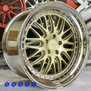 Xxr 570 Wheels 20 X9 35 10 5 40 Staggered Gold Mesh Pvd Step Lip 5x120 Rims Bmw