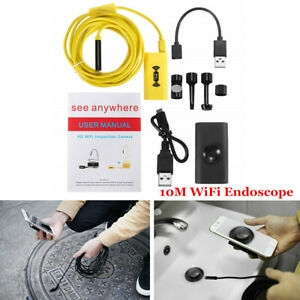 10 8mm Wifi Endoscope Borescope Inspection Camera Ip68 Fits Phone Android Mac