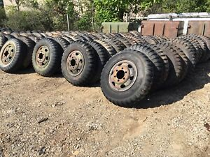 Military 9 00 20 9 00x20 Ndt Ndcc 8 Ply Tire High Tread On Wheel Used Set Of 4