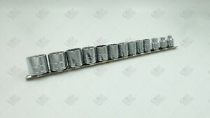 Sk Hand Tool 4653 13pc 3 8 Dr 12pt Standard Fractional Chrome Socket Set