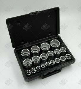 Sk Hand Tools 4120 19pc 1 2 Dr 6pt Standard Fractional Chrome Socket Set