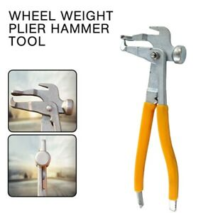 Heavy Duty Wheel Weight Plier Hammer Tool Tire Changer Repair Shop Diy Cy