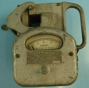 Vtg Heavy Duty Max i meter Made By Hd Electric Company Amperes Multiply By Ratio