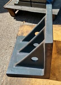 90 Degree Cast Iron Angle Plate 14 X 16 X 12 Machinist Layout Steel Set Up Tool