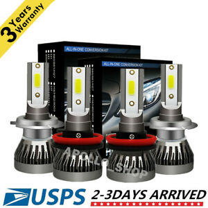 Mini H7 H11 Combo Led Headlight Kits Fog Light Bulbs High Low Beam 6000k Bright