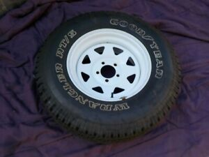 87 01 Jeep Cherokee Xj Wrangler 15x7 White Spoke Wheel Rim W 235 75 R15 Tire