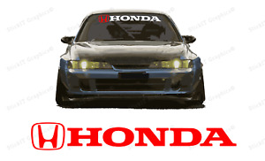 Honda Windshield Banner Decal For Type R Civic Old Civic All Honda Vehicles