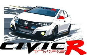 Honda Civic Type R Windshield Banner Decal