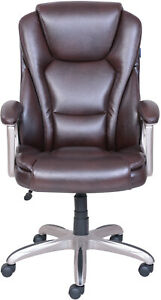 Brown Big amp Tall Commercial Office Computer Chair Padded Armrest W Memory