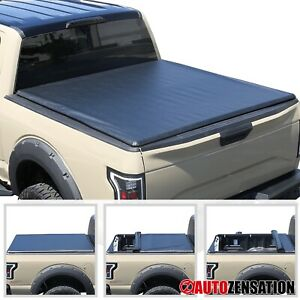 For 2014 2019 Ford F 150 5 5ft 5 6 66 Short Bed Soft Roll Up Tonneau Cover