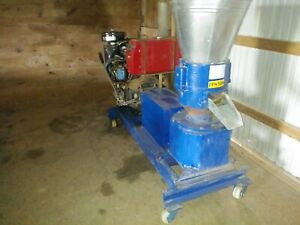Pellet Mill 30 Hp Diesel 2 Cylinder Self Contained Radiater With Fan