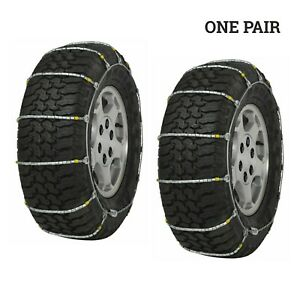 Quality Chain 1661 Cobra Light Truck Cable Snow Chain Tire Chains One Pair Set