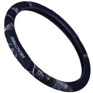 Black Realtree Camouflage Grip Steering Wheel Cover Camo Auto Truck Car