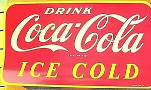 Coca Cola 1964 LARGE decal  ... Mint !  Still has the cover sheets attached Coke