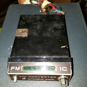 Vintage automatic Radio Fm Converter Made Japan For Am Car Radios