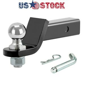 45036 Trailer Hitch Ball Mount With 2 Inch Trailer Ball Hitch Pin Fits 2 Inch