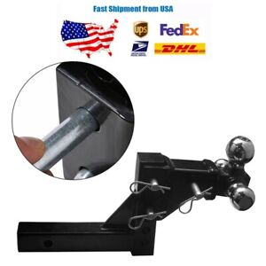 3 Ball Adjustable Trailer Tow Drop Hitch Ball Mount Towing Truck 2 In Receiver