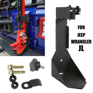 For 2018 2019 Jeepwrangler Jl High Lift Hood Tailgate Jack Mount Bracket Black