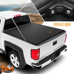 Vinyl Soft Top Tri Fold Tonneau Cover For 07 17 Tundra Pickup 5 5ft Truck Bed