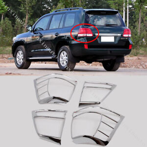 Chromed Taillight Covers Molding Trims For Toyota Land Cruiser Lc200 2008 2011