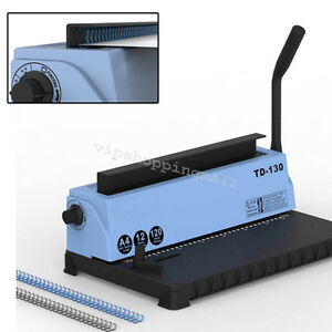 Top 34holes Punching Binding Machine All Steel Metal Spiral Coil Binder Puncher